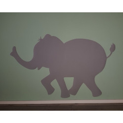 Muursticker behang olifant.